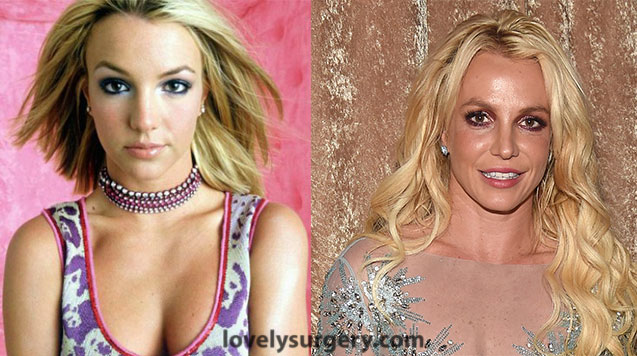 Britney Spears Eyes Then and Now